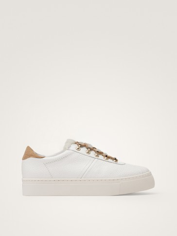 WINTER CAPSULE WHITE LEATHER TRAINERS