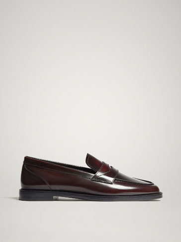 BURGUNDY ANTIK LEATHER LOAFERS