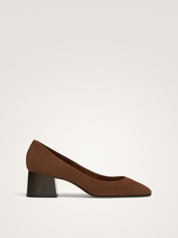 TAN SOFT SPLIT SUEDE LEATHER COURT SHOES