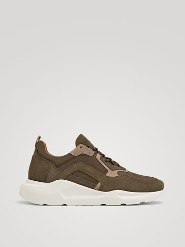 COMBINED KHAKI TRAINERS