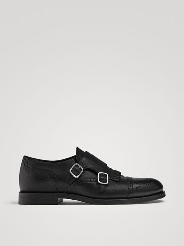 ZAPATO DOBLE HEBILLA PIEL NEGRO LIMITED EDITION