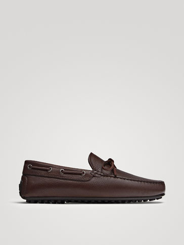 BROWN NAPPA LEATHER KIOWA LOAFERS