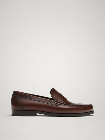 Nappa Leather Loafers by Massimo Dutti