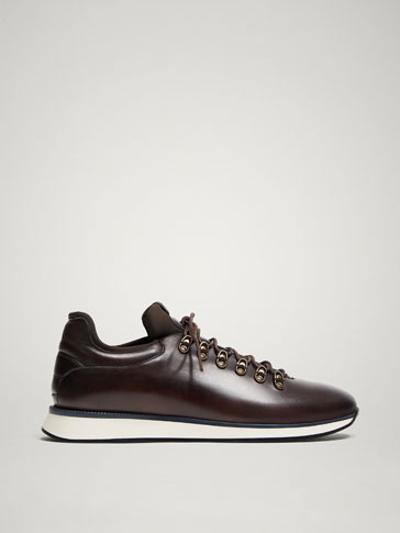 LIMITED EDITION BROWN LEATHER SNEAKERS
