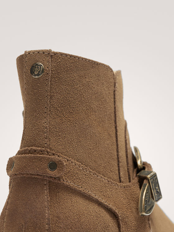 Massimo Dutti - BUCKLED SPLIT SUEDE ANKLE BOOTS - 5