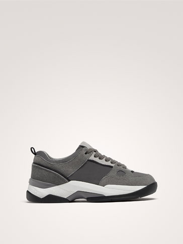 GREY CONTRAST FASHION TRAINERS