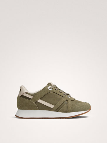KHAKI COMBINED TRAINERS