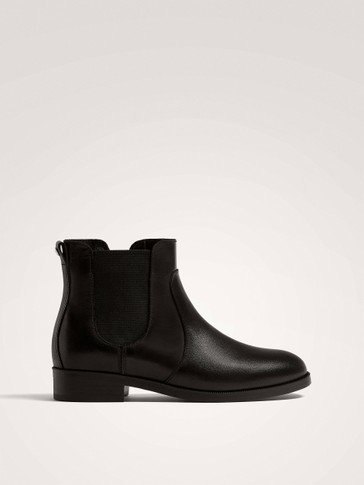 BLACK NAPPA LEATHER ANKLE BOOTS