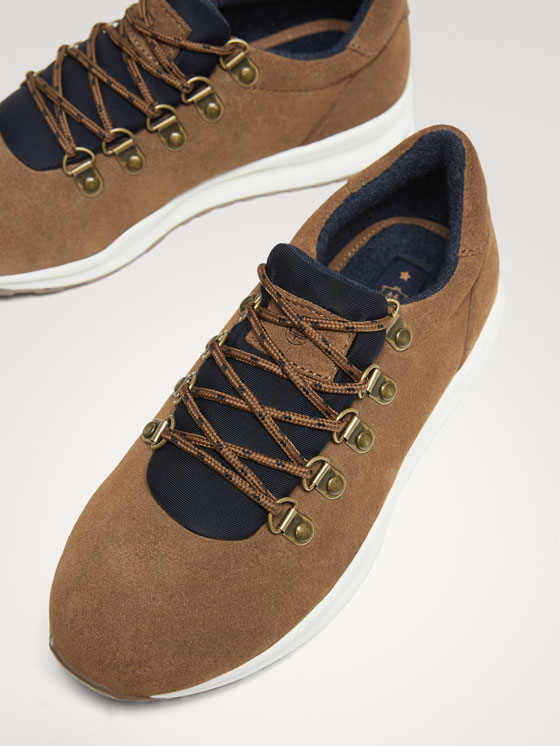 Massimo Dutti - BROWN LEATHER TRAINERS WITH D-RING EYELETS - 5