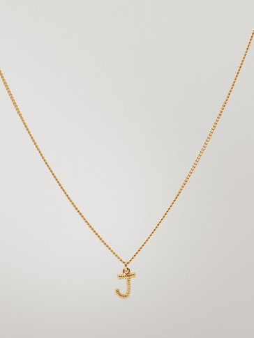 gold-plated letter J necklace