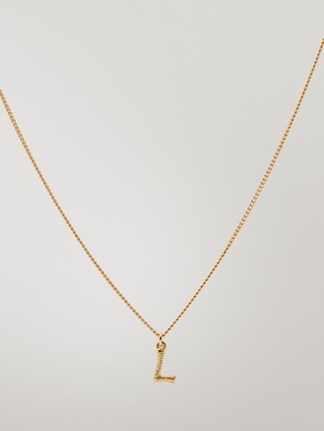 Gold-plated letter L necklace