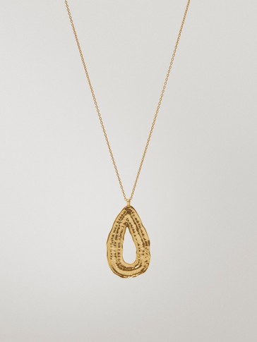 Gold-plated teardrop necklace