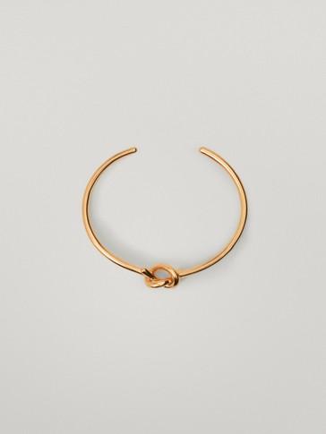 Gold-plated knot bracelet
