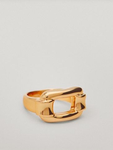 Gold-plated rectangular ring