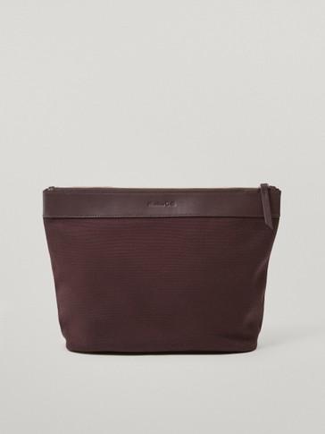 Austauschbare Innentasche aus Baumwolle und Leder