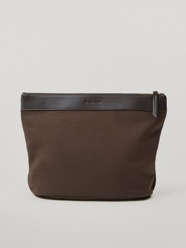 Cambiador de bolso algodón piel
