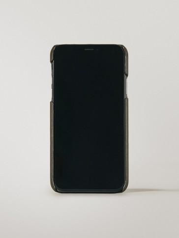 Funda iPhone X/XS piel con tarjetero