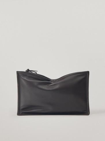 Кожена плик-чанта