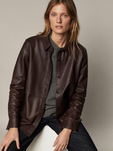 100% leather shirt