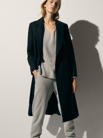 100% cashmere trousers