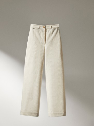 Pantalón chino pana slim fit