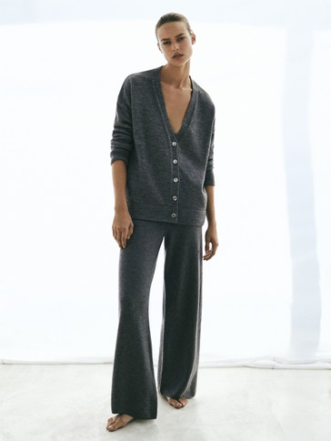 Total look wool trousers