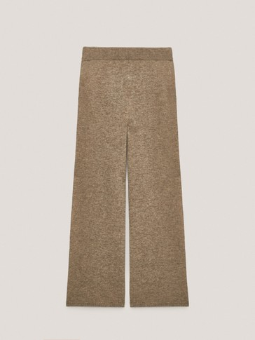 Jogging-fit yak wool trousers