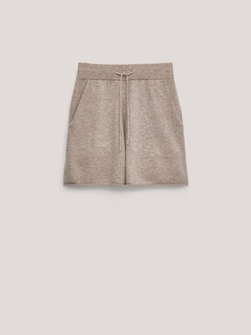 Cashmere wool shorts