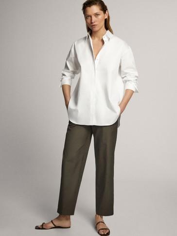 Eleganckie spodnie z popeliny