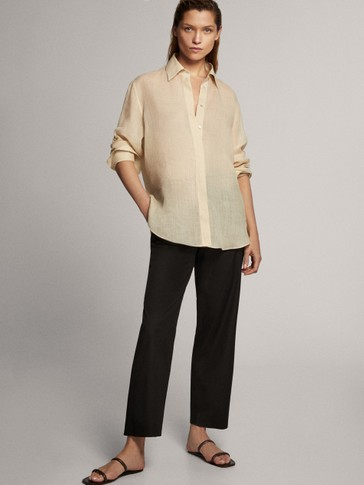 Poplin formal trousers