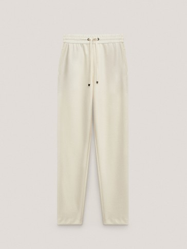 Pantalon en modal et coton jogging fit