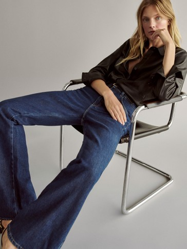 Relaxed wide-leg jeans