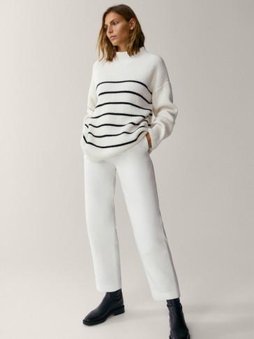 Spodnie o prostym kroju ze 100% lyocellu