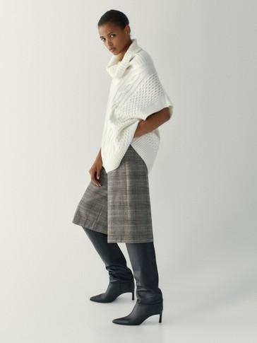 Jupe-culotte à carreaux