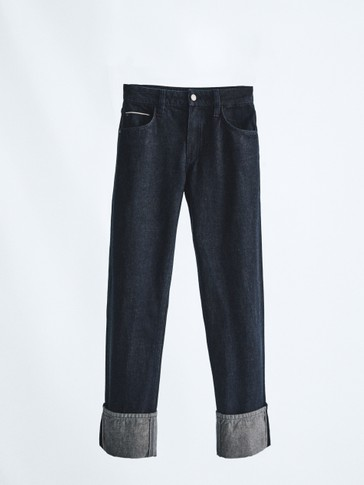 Straight fit rinse selvedge jeans