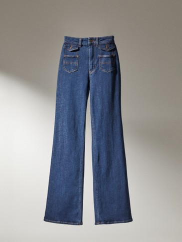 Flare fit jeans with pockets