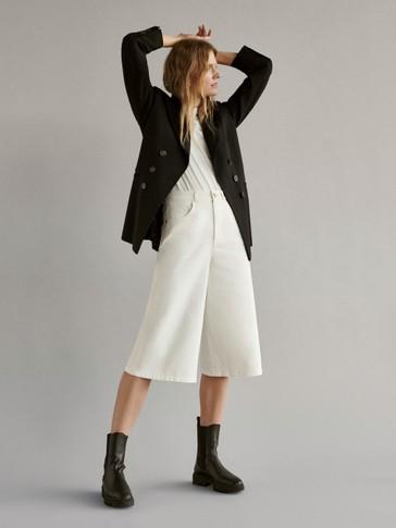Falda pantalón algodón