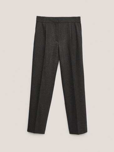 Wool trousers with pleats