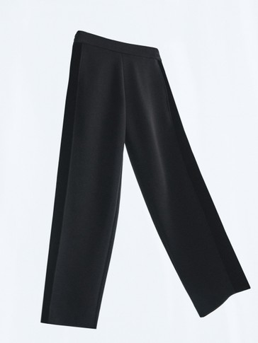 Jogging fit trousers with velvet detail