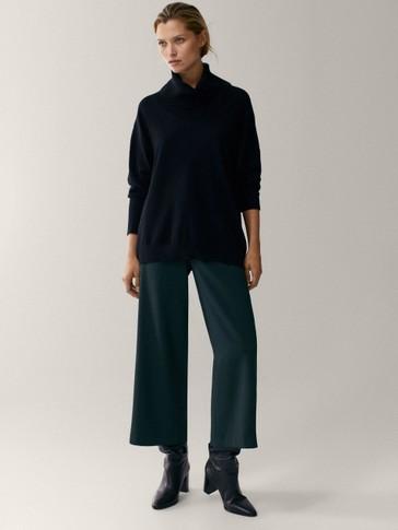 Pantalón culotte crepe