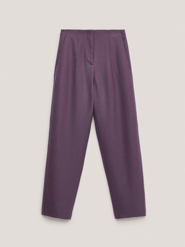 100% wool twill trousers