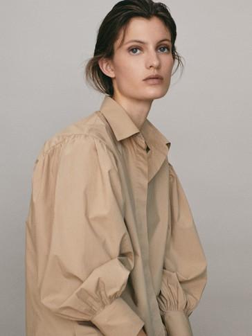 Oversize poplin blouse