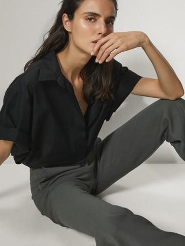 Camisa popelín manga corta