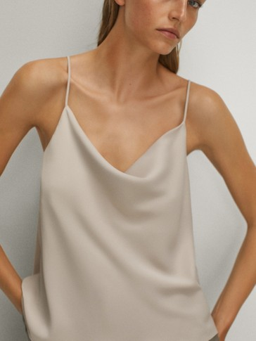 Draped strappy top