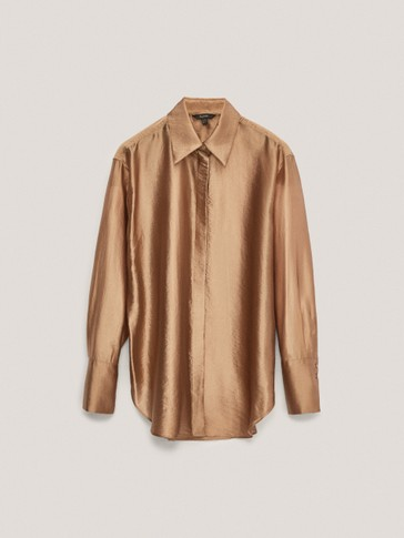 Золотистая рубашка