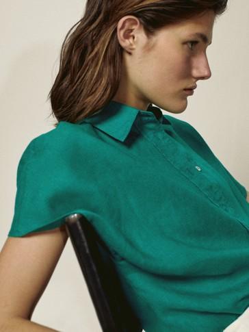 Košulja kratkih rukava od 100 % lana