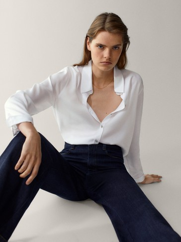 Shirt with back pleat 100% lyocell