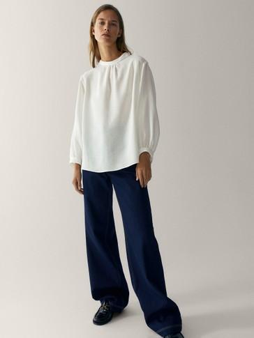 Textured 100% cotton shirt