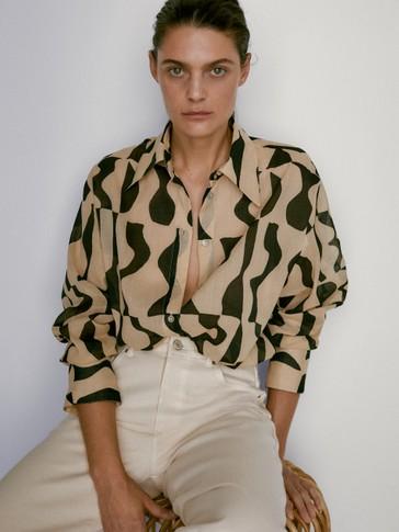 Košile s geometrickým potiskem