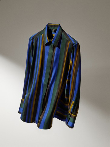 Shirt with coloured stripes
